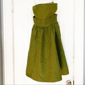 Maeve Moss Green Strapless Dress